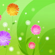 Beautiful wallpaper with flowers — Stock Photo