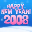 2008 year greeting card — Stok Fotoğraf #1314276