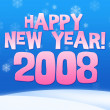 图库照片: 2008 year greeting card