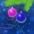 Two toys, christmas decoration — Stock Photo