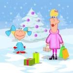 Little girl and Christmas holidays — Stock Photo