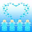 Valentine card with angels — Stock Photo