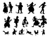 Fun silhouettes — Stock Photo