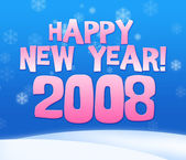 2008 year greeting card — Stock Photo