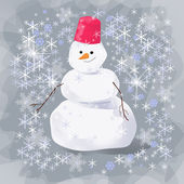 Snowman at the evening — Stock Photo