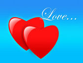 Dvě srdce — Stock fotografie