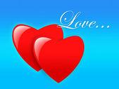 Dwa serca — Zdjęcie stockowe