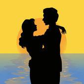 Romantische zonsondergang — Stockfoto