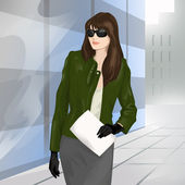 Businesswoman on the street — Stock Photo