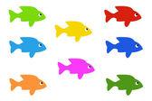 рыба значки — Стоковое фото
