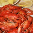 Royalty-Free Stock Photo: Fresh boiled crawfish on the table