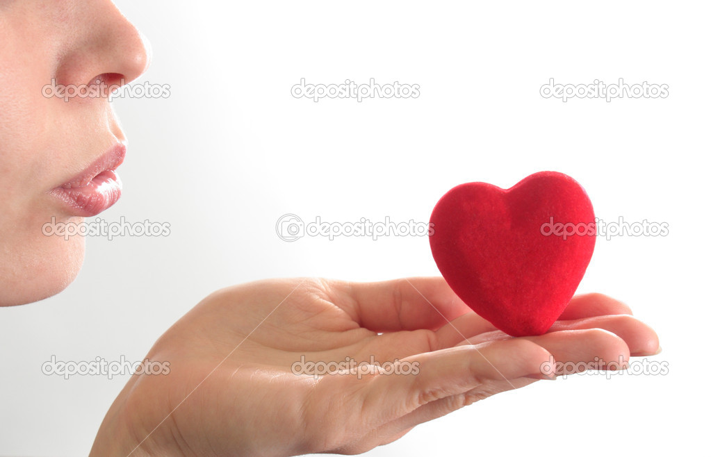 The Kiss of the Air in the manner of heart. — Stock Photo #1288621