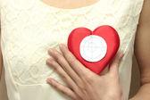The Heart on bosom. — Stock Photo