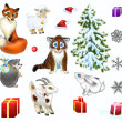 Stock Photo: Cristmas set