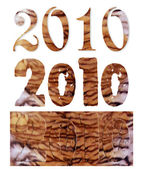 New year's numerals — Stock Photo