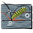 Fence caterpillar — Stock Vector