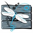 Fence dragonfly — Stock Vector #1918559
