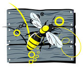 Fence bee — Stock Vector