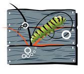 Fence caterpillar — Stock Vector