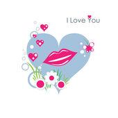 I love you lips — Stock Vector