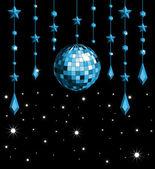 Disco ball_blue — Stockvector