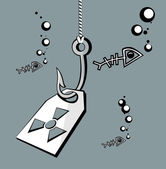 Hook radiation — Stock Vector