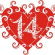 Royalty-Free Stock Vektorfiler: Valentine, stylized heart