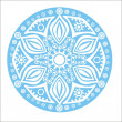 Stock Vector: Blue snowflake on white background