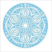 Blue snowflake on white background — ストックベクタ