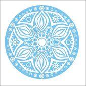 白地にブルーのスノーフレーク — ストックベクタ