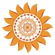 Stylized sun, vector — Stock Vector
