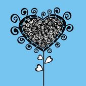 Arbre stylisé valentine — Vecteur