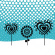 Royalty-Free Stock Vector Image: Winter background, valentine tree