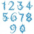 Royalty-Free Stock Vector Image: Set of stylized numbers