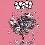 Original valentine tree — Stock Vector