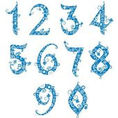 Set of stylized numbers — Stock Vector