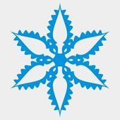 Original snowflake — Stock Vector