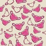 Seamless mönster med flygande hjärtan — Stockvektor