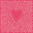 Royalty-Free Stock Vektorgrafik: Valentin s day card with heart