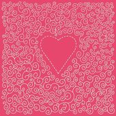 Valentin s day card with heart — Stock Vector