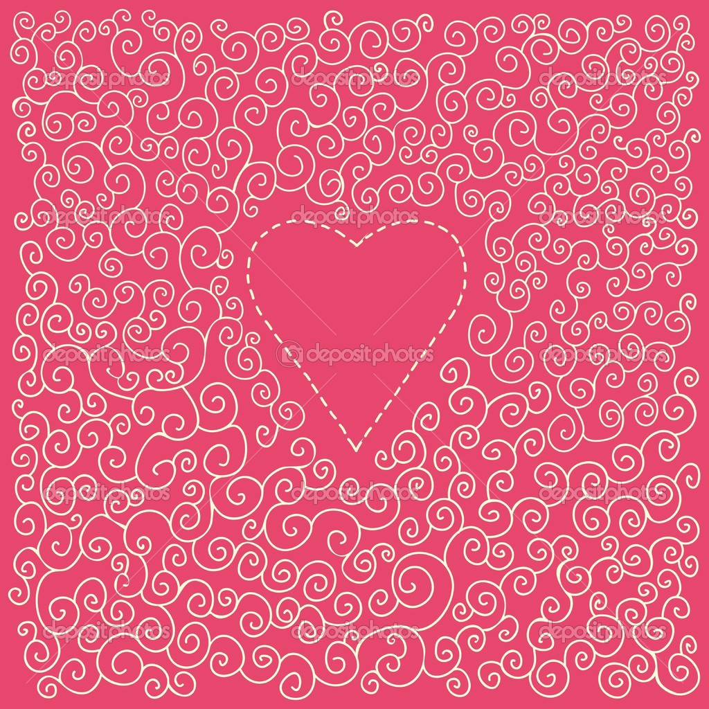 Valentin s day card with heart  Stock Vector #1563112