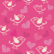 Romantic seamless pattern - Stockvektor