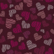 Romantic seamless pattern with hearts — Stock Vector #1578459