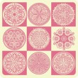 Circle ornament, lace - Stock Vector