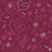 Romantic seamless pattern — Stockvector