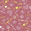 Royalty-Free Stock Vector Image: Romantic seamless pattern with hearts