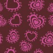 Romantic seamless pattern with hearts — Stockvektor