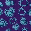 Romantic seamless pattern with hearts — 图库矢量图片 #2222626