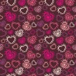 Romantic seamless pattern with hearts — Stock Vector #2222635