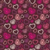 Romantic seamless pattern with hearts — Stock Vector